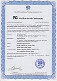 SF100 FCC Certificate