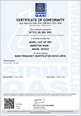 UHF10-F Pro SIRIM Certificate
