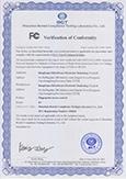 X7 FCC Certificate